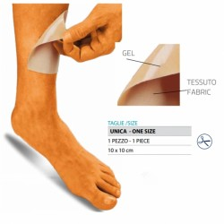 Protezione aderente in gel rivestito in tessuto