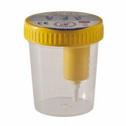 Contenitore per urina con prelievo da provetta
