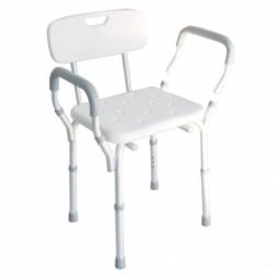 Sedia per doccia con braccioli estraibili